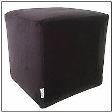 Hocker Puff Pouf Puf 43x 43x 43Mikrofaser schwarz abnehmbar waschbar Innenausstattung hoher Dichte beschichtet in Watte leicht und komfortabel streng Weich zum Ausprobieren