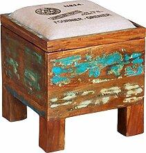 Hocker, Sitzhocker mit Klappdeckel Vintage-Design / Sitzbänke und Hocker
