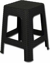 Hocker - Sitzhocker Rattan mit Farbauswahl (schwarz)