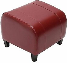Hocker Sitzwürfel Sitzhocker Emmen, LEDER, 37x45x47 cm ~ ro