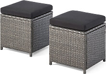 Hocker Toledo 2er-Set, grau