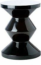 Hocker Zig Zag schwarz - pols potten, Hocker, Stuhl, Design, Designhocker, extravagant, Dekoration, Möbelstück, Sitzgelegenheit, ausgefallen, modern, stylish, Stil, Tisch