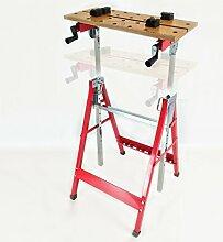 Höhenverstellbarer und neigbarer Arbeitstisch von Dirty Pro Tools™, tragbare Arbeitsplatte für Heimwerker
