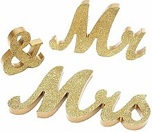 Hölzerne Buchstaben Dekorative Mr & Mrs Special