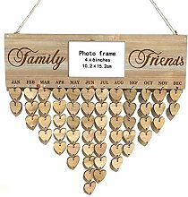 Hölzerne DIY Kalender Hanging-Plakette Photo