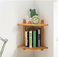 Hölzerne Eckregal - Fan Form Holz hängen Wand