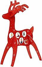 Hölzerne Elch-Dekoration-kreative Weihnachtsverzierung