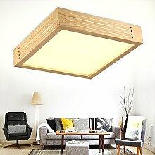 Hölzerne LED Decke Lampe/LED Lampe/LED Decke Lampe/solide Holz Schlafzimmer Holz LED Decke Deckenleuchte, Acryl Deckenleuchte,60 * 60 tricolor