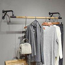 7ft Lang Kleiderstange Wandmontage Schraube Chrom Kleidungsstück Schiene Hänge