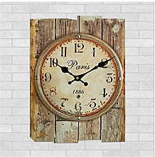 Hölzerne Wanduhr, handgemachte antike Home kurze Wanduhren Kinder Wohnzimmer dekorative hängende Uhr , 010