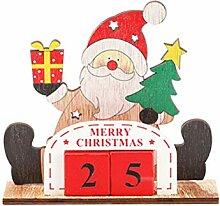 hölzerne Weihnachtskalender, Countdown