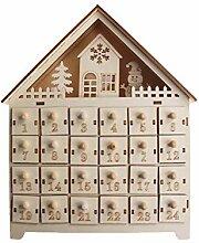 Hölzerner Santa House Adventskalenderhaus Mit 24