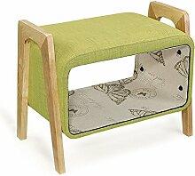 Hölzerner Speicher für Schuh-Hocker-Sofa-Hocker-einfacher moderner Sofa-Gewebe-Sofa-Hocker, zum des Hocker-zum Sitz-Sofa-Hocker zu nehmen (Farbe wahlweise freigestellt) ( farbe : #1 )
