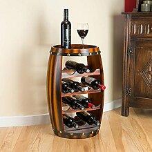 Hölzernes Faß Weinregal Holz-Flaschenhalter