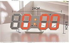 HoEOQeT Elektronischer LED Digital Wecker, Uhr mit