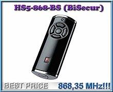 Hörmann HS5–868-BS schwarz Fernbedienung, 868,3MHz BiSecur 5-Kanal Transmitter. Top Qualität Original Hormann Fernbedienung für die besten Preis