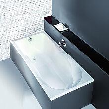 Hoesch Spectra Rechteck-Badewanne, mit Duschzone,