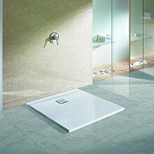 Hoesch Thasos Quadrat-Duschwanne ultraflach 80 x