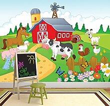 Hof Wandbild Tiere Foto-Tapete Kinderzimmer Kinderzimmer Wohnkultur Erhältlich in 8 Größen Mittel Digital
