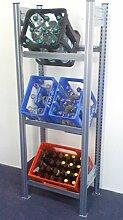 Hofe PROFI Getränkekistenregal für 3 Kisten,