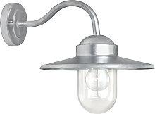 Hoflampe Dolce Verzinkt mit Tag/Nacht Sensor LED