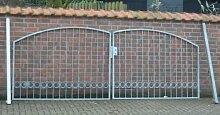 Hoftor Bogentor Einfahrtstor Tor verzinkt Breite 300cm x Höhe 150cm