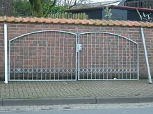 Hoftor Gartentor Einfahrtstor Tor verzinkt Breite 600cm x Höhe 180cm