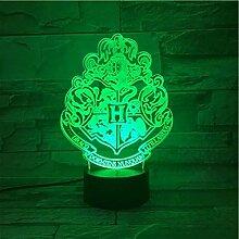 Hogwarts School of Magic 3D Farbwechsel Licht