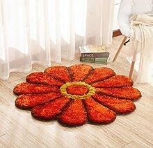 Hohe Qualität Schöne / Mode Romantische Blütenblatt Kunst Teppich / Fußmatten / Kunst Teppich für Schlafzimmer , orange , 100cm