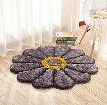 Hohe Qualität Schöne / Mode Romantische Blütenblatt Kunst Teppich / Fußmatten / Kunst Teppich für Schlafzimmer , gray , 100cm