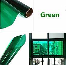 HOHO 2Mil schwarz getönt Deko Fenster Glas Privacy Film Aufkleber für Home Schlafzimmer Badezimmer Büro Abmessungen 152x 50cm grün