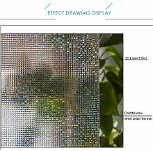 HOHO 3D Laser Colorful Fenster Film nicht klebend
