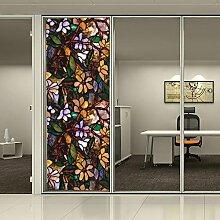 HOHO 3D Malerei Statische Fensterfolie Sichtschutz