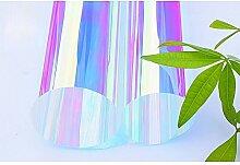 HOHO Chameleon bunten Fenster Glas Folie Farbverlauf lila Isolierung dekorativen Tint für Shopping Home Office Glas Deko, colorful purple, 138cmx500cm