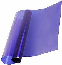 HOHO Farbige Fenster Solar Film Hitze Kontrolle UV-Proof Dekoration Glas Tint Aufkleber, violett, 90cmx1000cm