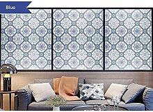 HOHO Fenster Folie Fensterfolie, Milchglas Dekoration Selbstklebend für UV-Blocker Hitze Kontrolle Glas Aufkleber 122x 200cm