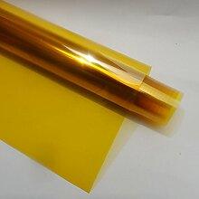 """HOHO Gold Gelb Fenster Film Zweiwege-Perspektive Dekorative Farbige Tönungsfolie für Home Office Hotel, goldgelb, 60"""" x98f"""