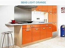 HOHO orange Tapete Möbel Renovierung Aufkleber für Unterschrank Kleiderschrank Dekoration Wohnheim, 50cmx500cm