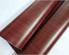 HOHO selbstklebend Holzmaserung Wasserdicht Tapete für Schlafsaal Schlafzimmer Kinder Zimmer Möbel Renovierung Aufkleber, 122cmx50cm