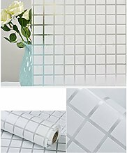 HOHO selbstklebende 3d-Fenster-Folie transparent mattiert Fenster Tint Matte Aufkleber für das Badezimmer, PVC, style06, 91cmx200cm
