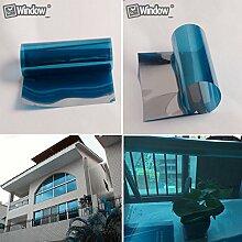 HOHO Silber Tint Fenster Glas Film High Reflektierende Solar Film Privatsphäre Aufkleber für Home, Bau, Blau, Silber, 80cmx300cm