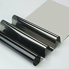 HOHO Silber Tint Fenster Glas Film High Reflektierende Solar Film Privatsphäre Aufkleber für Home, Bau, Gray silver, 80cmx300cm