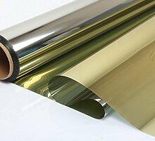 """HOHO Solar Hohe Reflektierende Silber-Fenster Film One Way Spiegel Isolierung Hitze Kontrolle Aufkleber, 19.7in. Von 78,7in., gold, 19.7""""x78.7"""