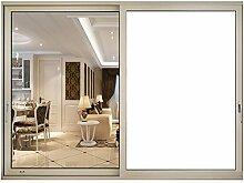HOHO weiß Sichtschutz Frosted Fenster Glas Film blickdicht matt Glas Tint Aufkleber für Home Badezimmer Büro Konferenzraum, weiß, 60cmx500cm