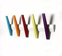 Hoigaard Garderobenleiste TANGENT 5 mit 5 Haken