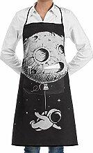 Hoklcvd Grill Aprons Kitchen Chef Bib Astronaut