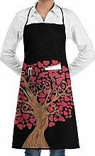 Hoklcvd Grill Aprons Kitchen Chef Bib Heart Tree
