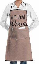Hoklcvd Grill Aprons Kitchen Chef Bib I Am Really