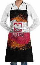 Hoklcvd Splashing Poland Map Polish Flag Kitchen