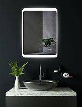 HOKO® LED Badspiegel mit digitaler Uhr, Detmold